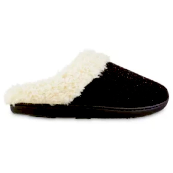 ❤️ Isotoner Women Chenille Sage Hoodback Slippers